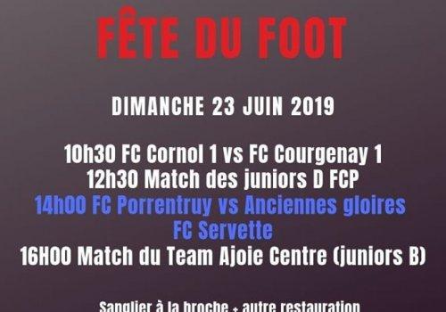 Fête du foot - Dimanche 23 juin 2019